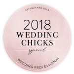 2018 Wedding Chicks Approved Wedding Professional